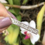 Pingente de Prata 925 Placa Profissão Odontologia