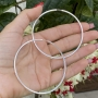 Brinco de Prata 925 Argola Fio Quadrado 6cm