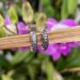 Brinco de Prata 925 Argolinha Envelhecida 1cm