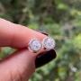 Brinco de Prata 925 Ponto de Luz Luxo 6,5mm