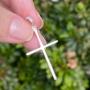 Pingente de Prata 925 Cruz Liso 3,8cm