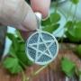Pingente de Prata 925 Pentagrama 2,1cm