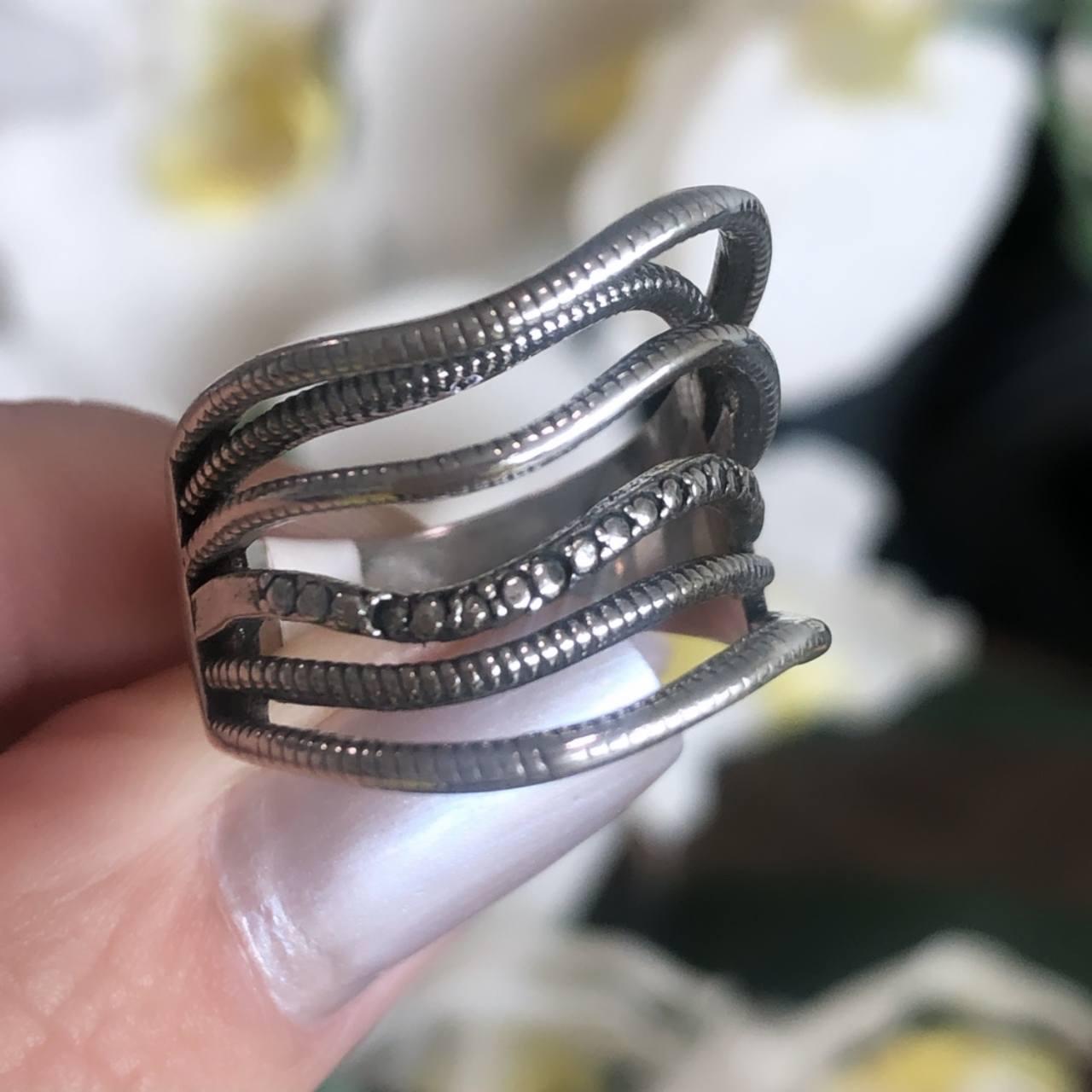 Anel de Prata 925 6 fios Ondas