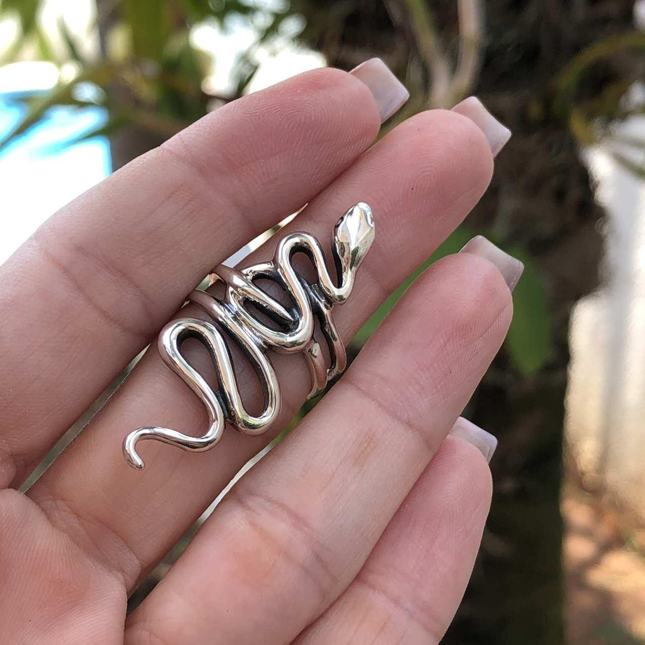 Anel de Prata 925 Cobra
