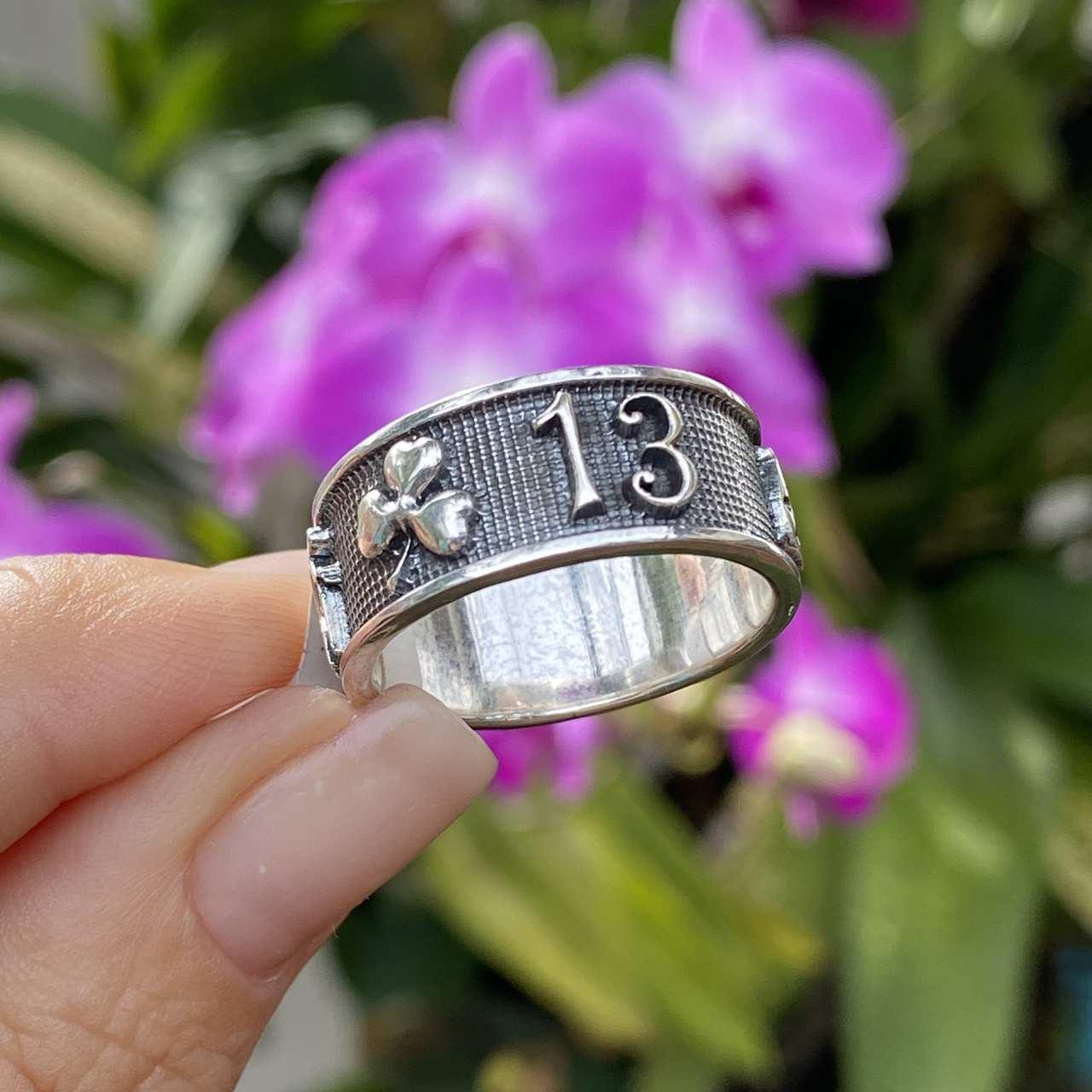 Anel de Prata 925 Sorte e Proteção