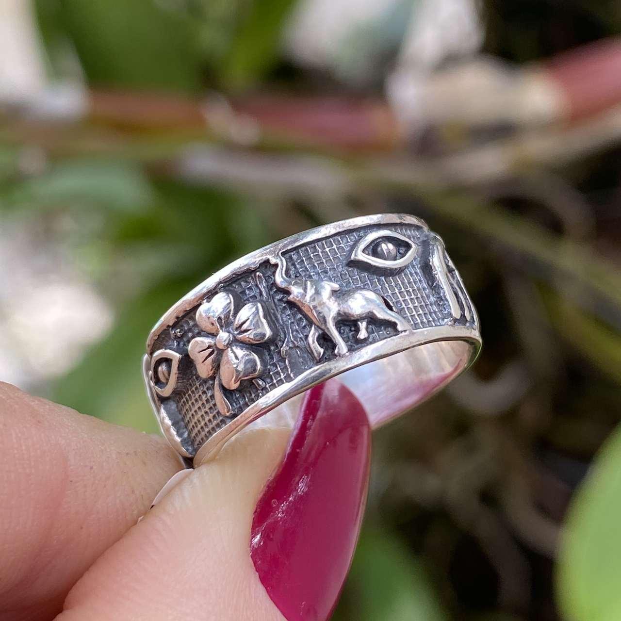 Anel de Prata 925 Sorte e Proteção c/ Olho
