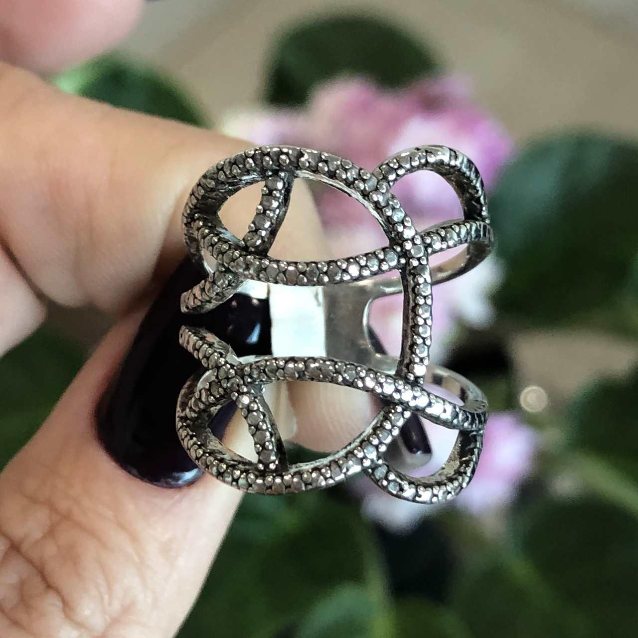 Anel de Prata 925 Vazado Elegance