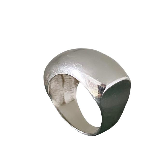 Anel de Prata 950 Artena Curvado Largo Ale