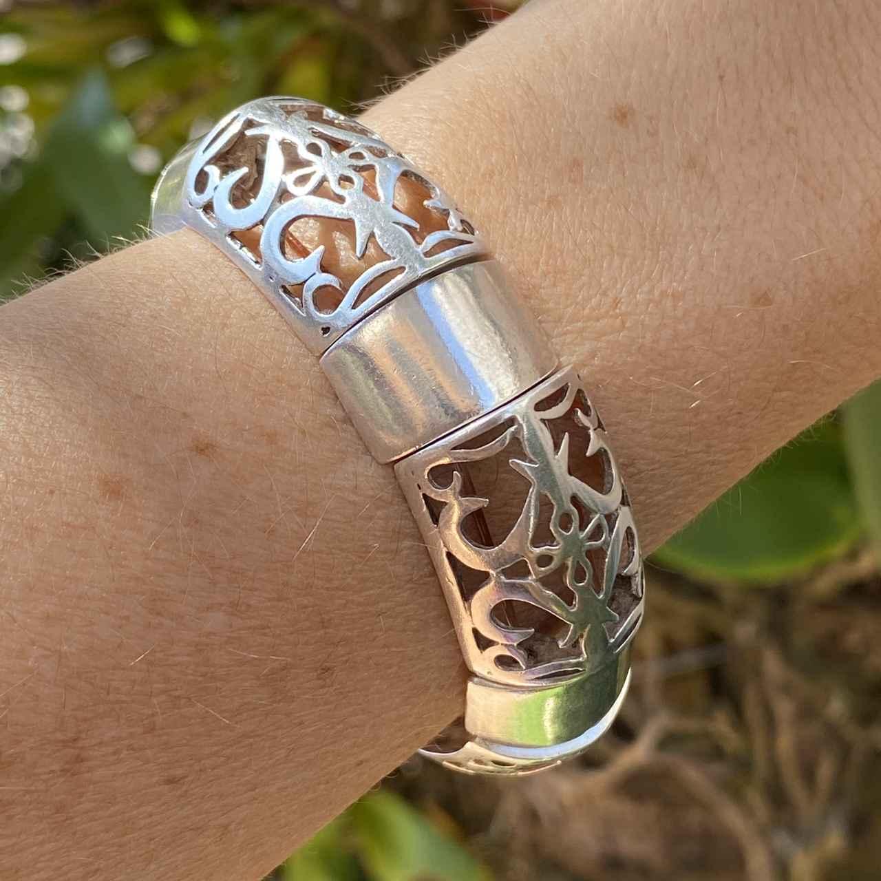 Bracelete de Prata 950 Artena Trabalhado