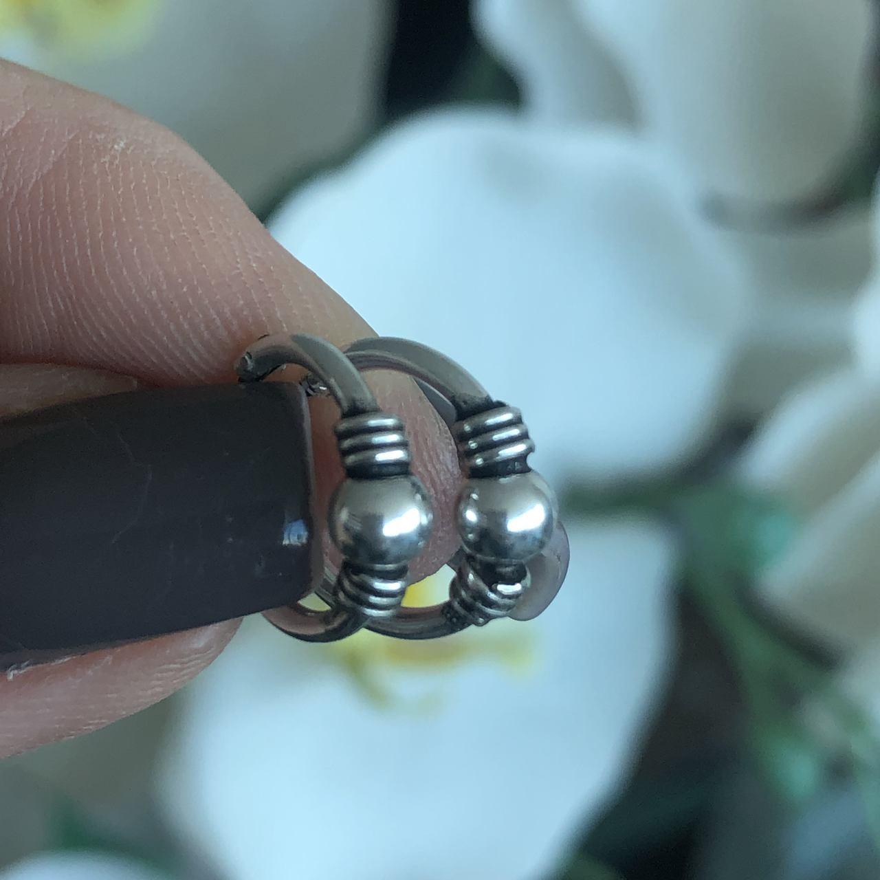 Brinco de Prata 925 Argolinha estilo Boho 1cm