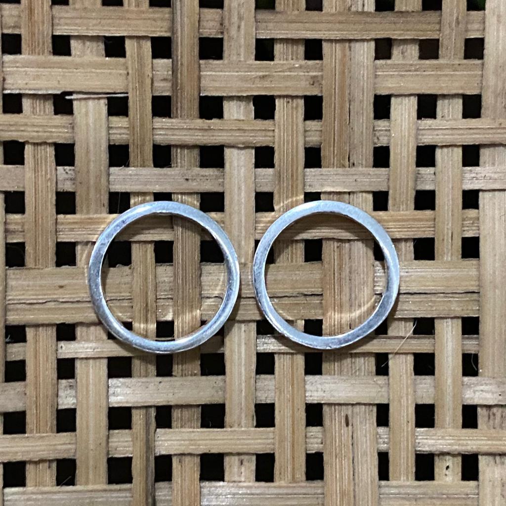 Brinco de Prata 925 Circulo Vazado 1,4cm