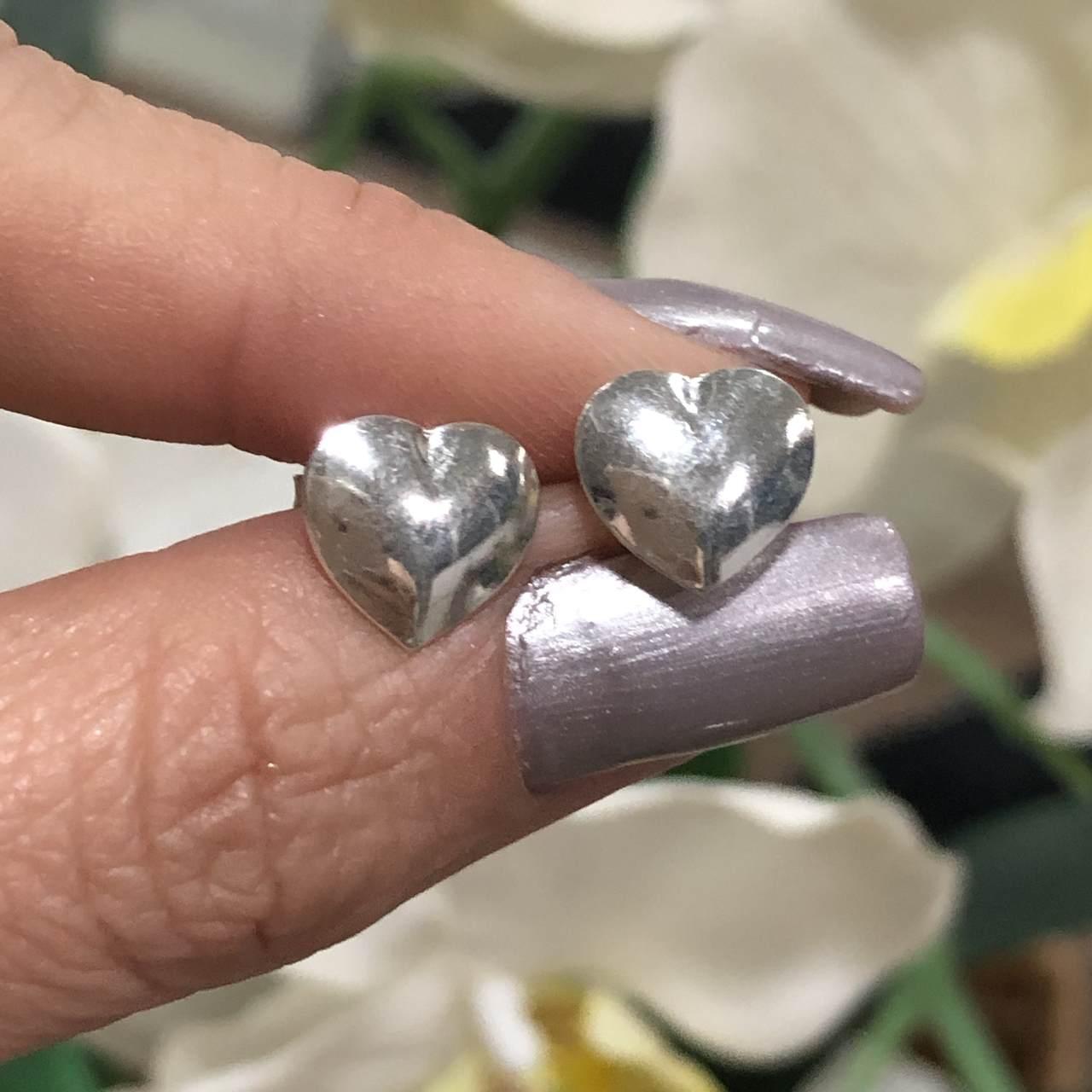 Brinco de Prata 925 Coração
