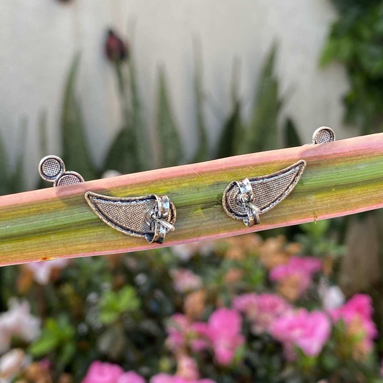 Brinco de Prata 925 Ear-cuff 5 Rodinhas Envelhecidas