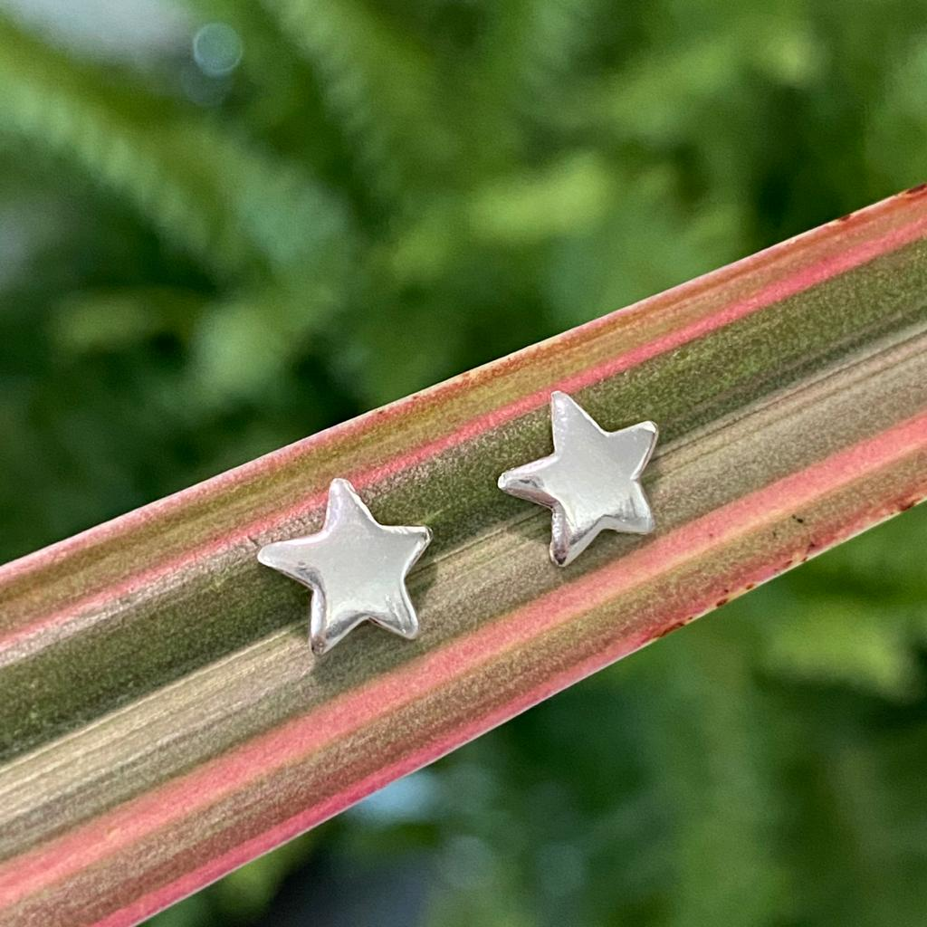 Brinco de Prata 925 Estrela  7mm