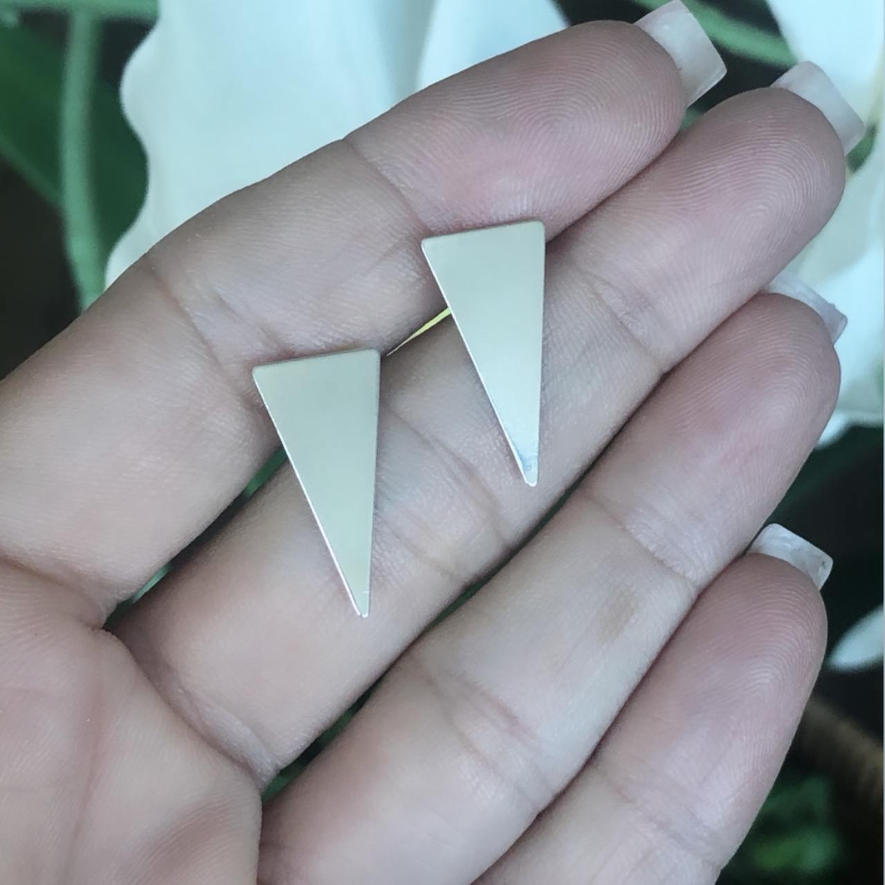 Brinco Prata 925 Triângulo M