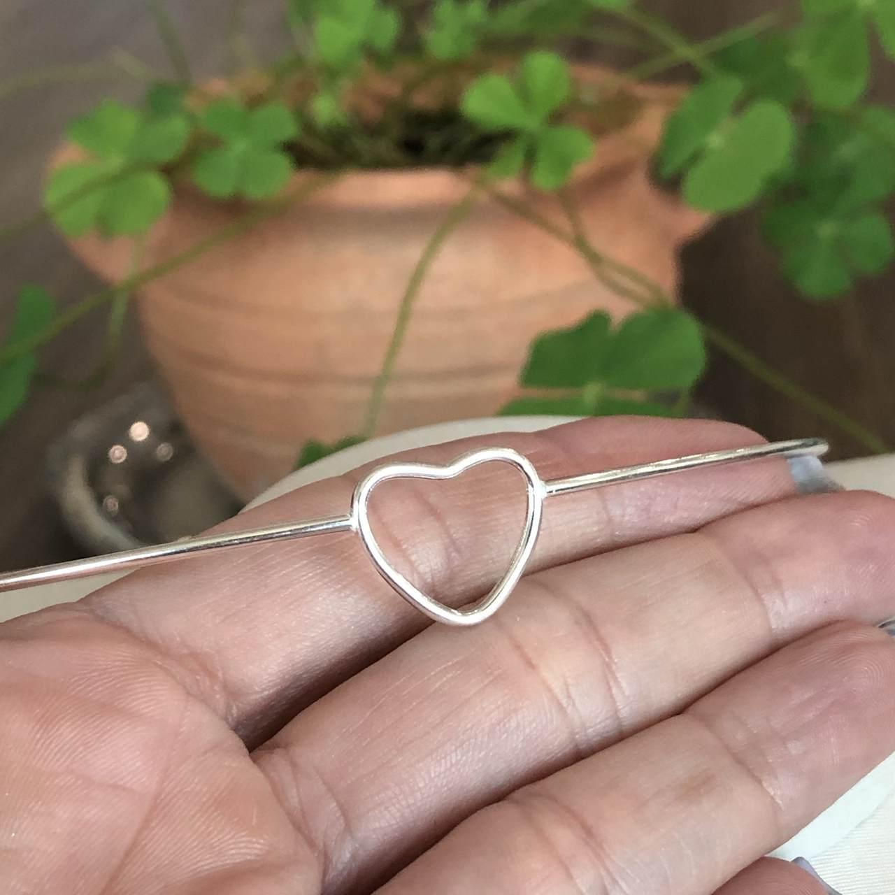 Choker de Prata 925 Aro com Coração