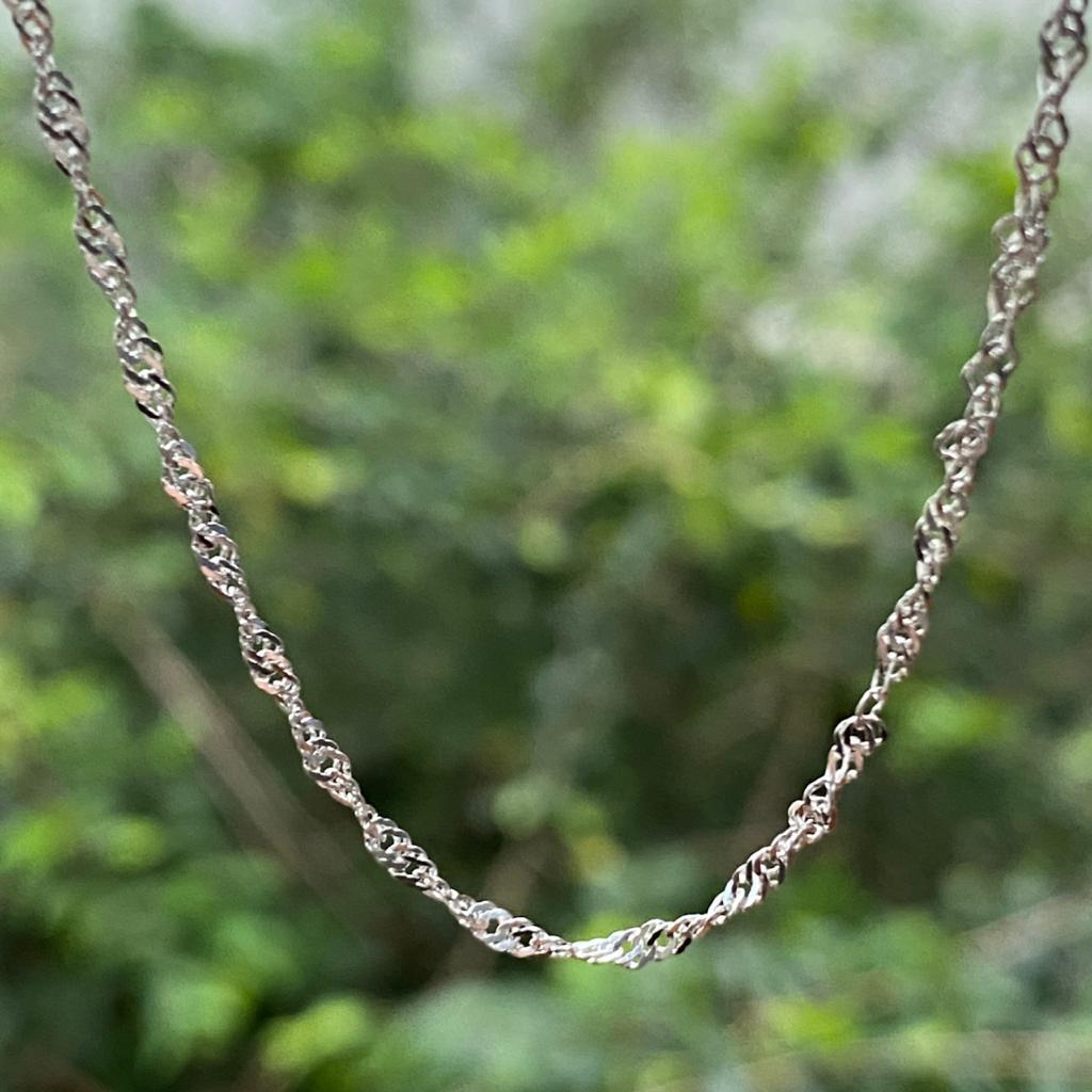 Corrente de Prata 925 Cingapura 40cm 1,7mm