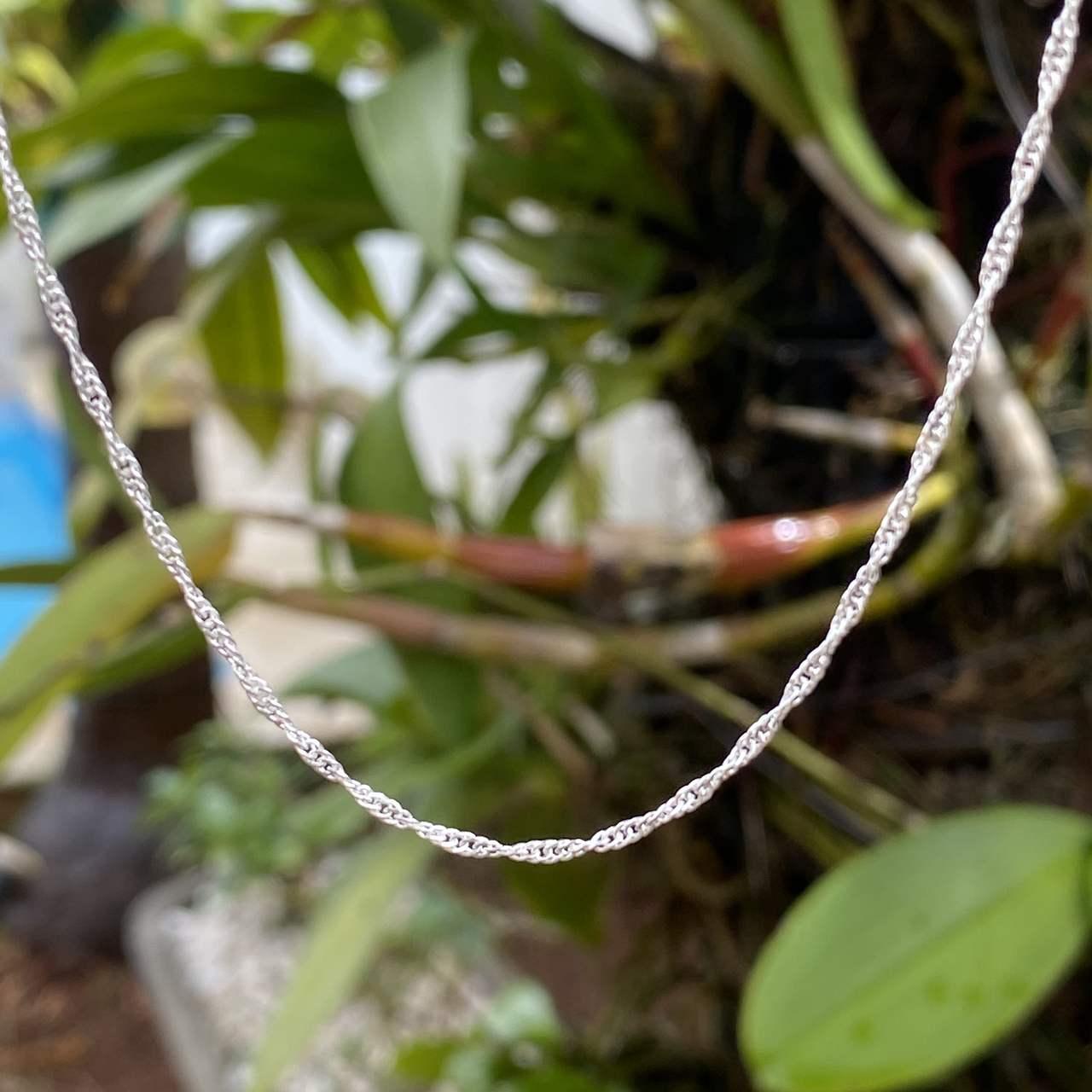 Corrente de Prata 925 Cingapura Fina 60cm