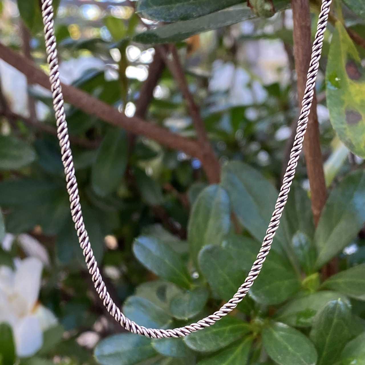 Corrente de Prata 925 Cordão Envelhecido 65cm