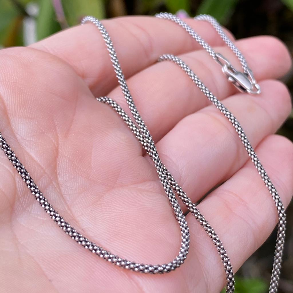 Corrente de Prata 925 Estilo Pipoca 70cm