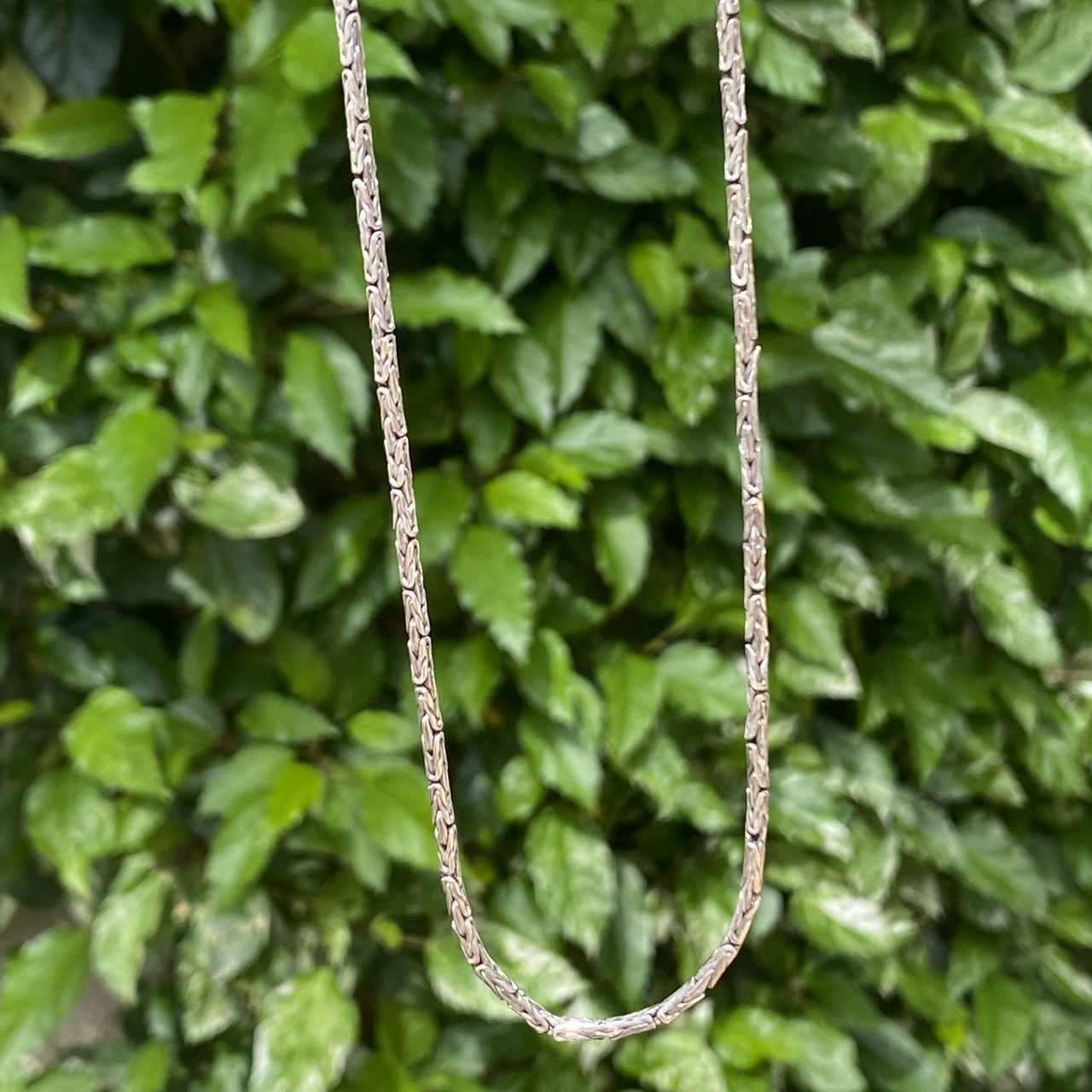 Corrente de Prata 925 Ponto Peruano 65cm 2mm espessura