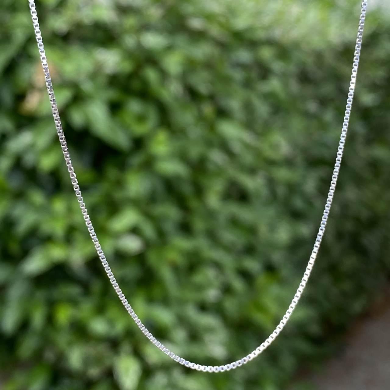 Corrente de Prata 925 Veneziana Rodinada Envelhecida 50 cm