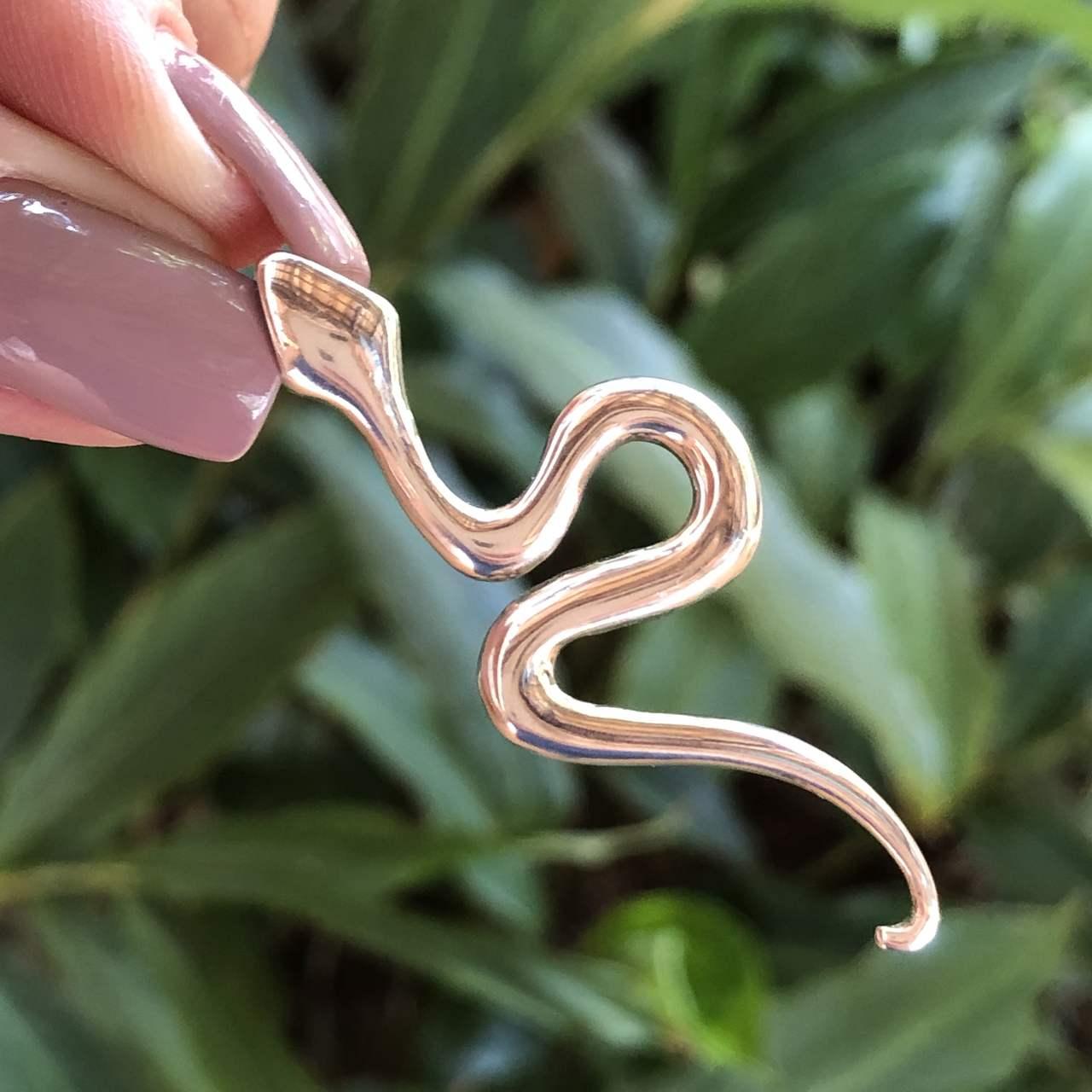 Pingente de Prata 925 Cobra