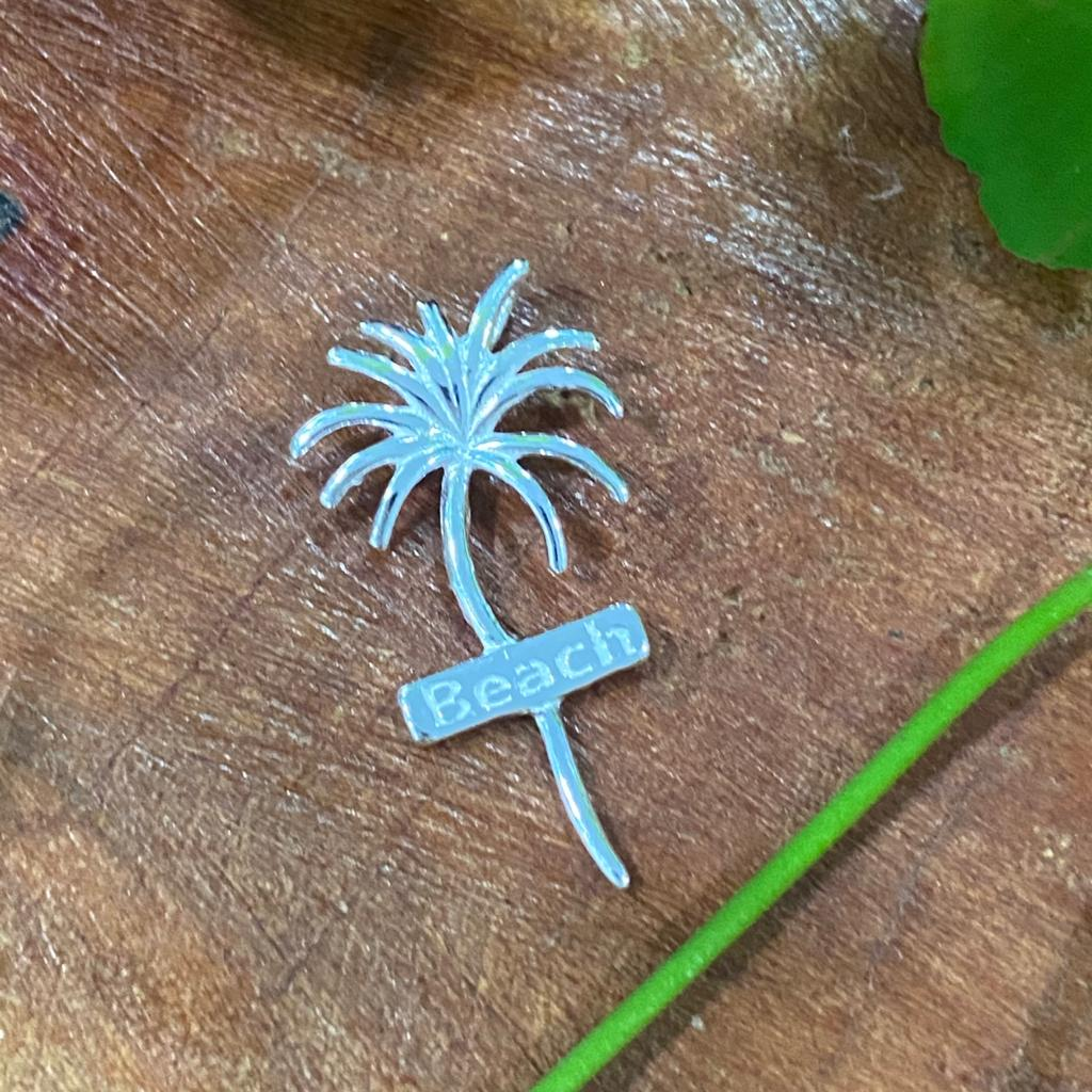 Pingente de Prata 925 Coqueiro  2,7cm
