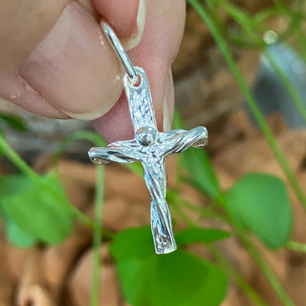 Pingente de Prata 925 Cristo Trabalhado 3cm