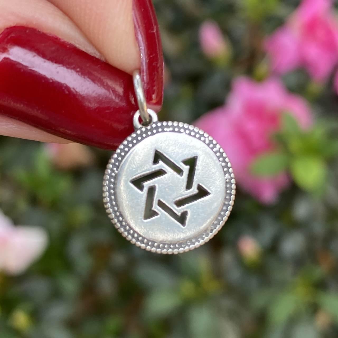 Pingente de Prata 925 Envelhecido Estrela de Davi 1,5cm