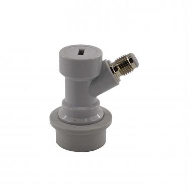 "Conector Ball-Lock para Gás (Branco) - Rosca 7/16"""