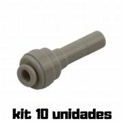 "DMFIT - Adaptador - (Redutor - Tubo 5/32"" x Pino 1/4"") - ARD 0104 - Pacote 04 Unidades"