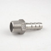 """Espigão 3/8"""" (10 mm) x Rosca Macho 1/2"""" BSP - Aço Inox 304"""