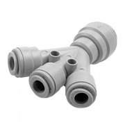 "Kit 10 Unidades - DMFIT - União - (3 Vias - 3 x 3/8"") - ATHWD 0606"