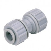 "Kit 10 Unidades - DMFIT - União - (Reto - Cano Inox 3/8"" x Cano Inox 3/8"") - APBUC 0606"