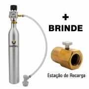 Kit Carbonatação com Cilindro SodaStream + Mini-Reguladora Profissional - Rosca SodaStream