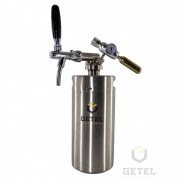 Kit Mini-Keg (Growler) c/ Torneira Italiana - 3,6 Litros