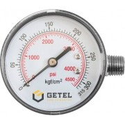 """Manômetro 1/4"""" para Nitrogênio - Latão - 62mm - 0/315 kgf/cm2"""
