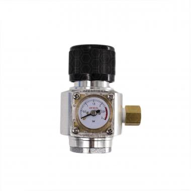 """Mini-Reguladora Profissional de CO2 com Manômetro - Rosca 3/8"""" para cilindros de 16/32g"""
