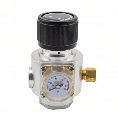 Mini-Reguladora Profissional de CO2 com Manômetro - Rosca SodaStream