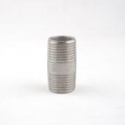 "Niple Liso - Rosca Macho 1/2"" BSP x Rosca Macho 1/2"" BSP - Aço Inox 304"