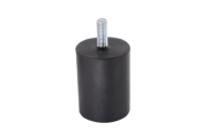 Pé de Borracha para Chopeira Elétrica - Memo - Preto 50 X 65 - Rosca M10