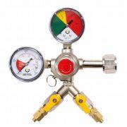 Regulador de Pressão CO2 (HBS - 2 Saídas) - Válvula Esfera