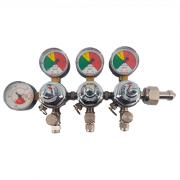 Regulador de Pressão CO2 (Triplo) - Válvula esfera