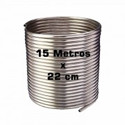 Serpentina Chopeira Cerveja Artesanal - Aluminio - 15 Metros x 22 cm