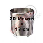 Serpentina Chopeira Cerveja Artesanal - Aluminio - 20 Metros x 17 cm