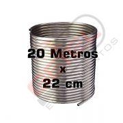 Serpentina Chopeira Cerveja Artesanal - Aluminio - 20 Metros x 22 cm