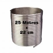Serpentina Chopeira Cerveja Artesanal - Aluminio - 25 Metros x 22 cm