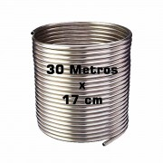 Serpentina Chopeira Cerveja Artesanal - Aluminio - 30 Metros x 17 cm