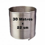 Serpentina Chopeira Cerveja Artesanal - Aluminio - 30 Metros x 22 cm